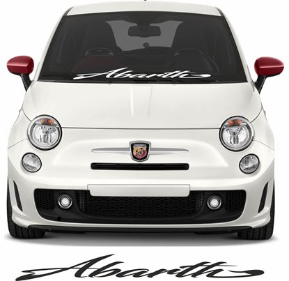 Picture of Fiat 500 / 595 Abarth upper or lower screen Decal / Sticker