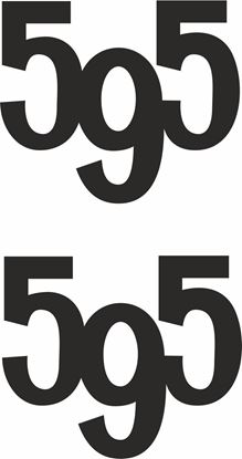 "Picture of Fiat ""595 "" Decals / Stickers"
