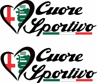 "Picture of Alfa Romeo ""Cuore Sportivo""Decals / Stickers"