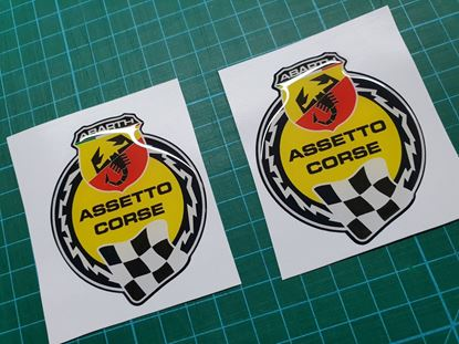 Picture of Fiat Abarth Assetto Corse wing Badges 65mm