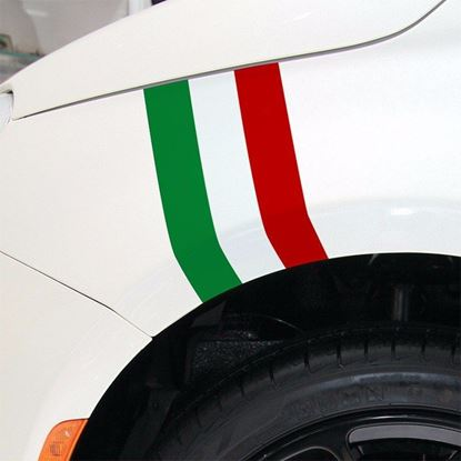 Picture of Fiat  500 / 595 / 695  Italia Stripe wing Decals / Stickers