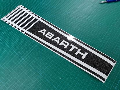 Picture of Fiat  500 / 595  Abarth Bonnet Stripe / Sticker Glitter Black