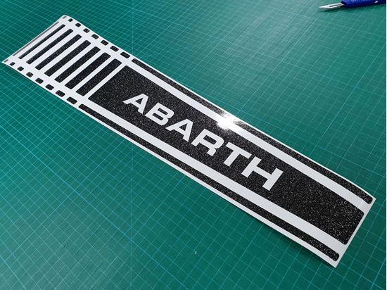 Picture of Fiat  500 / 595  Abarth Bonnet Stripe / Sticker Glitter Black