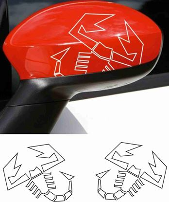 Picture of Fiat  500 / 595  Abarth Mirror cover Stickers / Decals