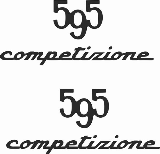Picture of Fiat  595 Competizione Stickers / Decals
