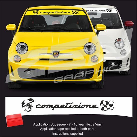 """Picture of Fiat  500 / 595  Abarth """"Competizione"""" Sunstrip /  Sticker"""