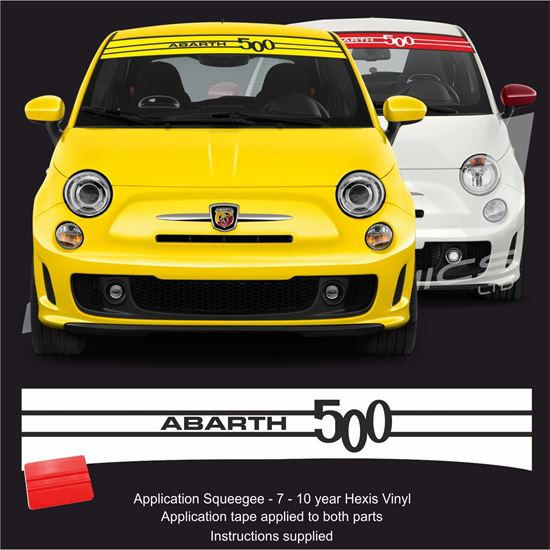 Picture of Fiat  500 / 595 Sunvisor  Decal / Sticker