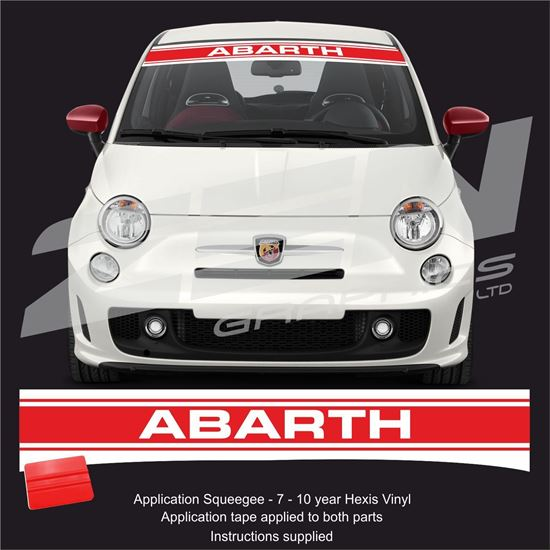 "Picture of Fiat  500 / 595 "" Abarth"" Sunstrip /  Sticker"