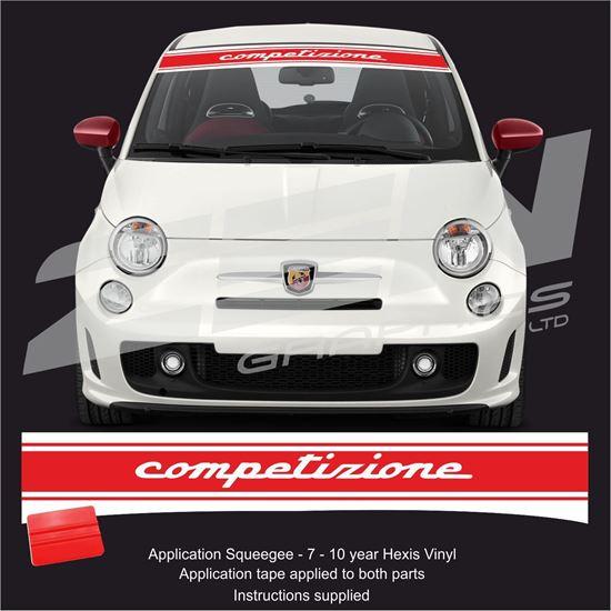 """Picture of Fiat  500 / 595 """" Competizione"""" Sunstrip /  Sticker"""