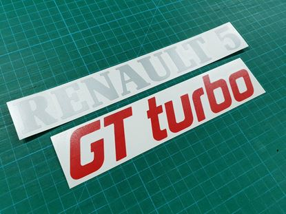 Picture of Renault 5 GT Turbo Phase 2 rear Badge restoration overlay Decals / Stickers