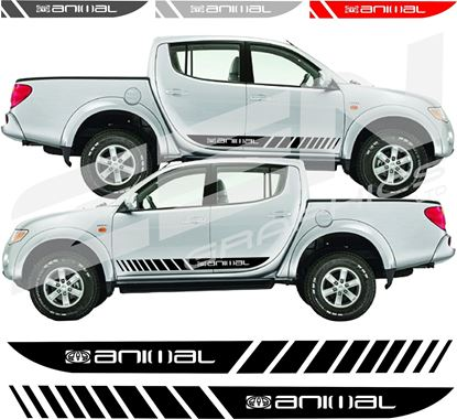 Picture of Mitsubishi L200 Animal side stripes / stickers