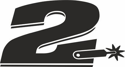 "Picture of ""2""  Coillin Edwards Track and street race nose cone number Decal / Sticker"