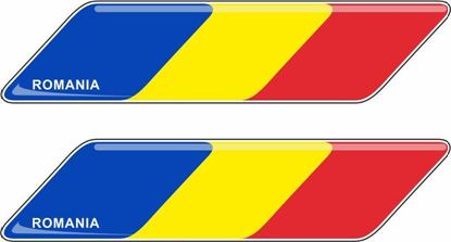 Picture of Romania 70mm Exterior Gel Badges