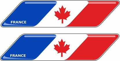 Picture of France / Canada 70mm Exterior Gel Badges