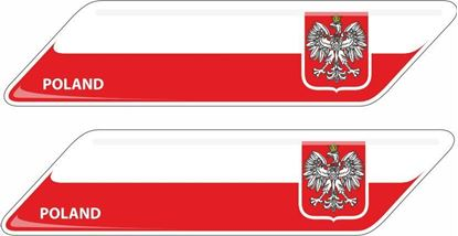 Picture of Poland 70mm Exterior Gel Badges