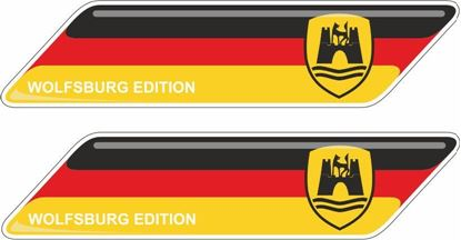 "Picture of Germany ""Wolfsburg Edition""  70mm Exterior Gel Badges"