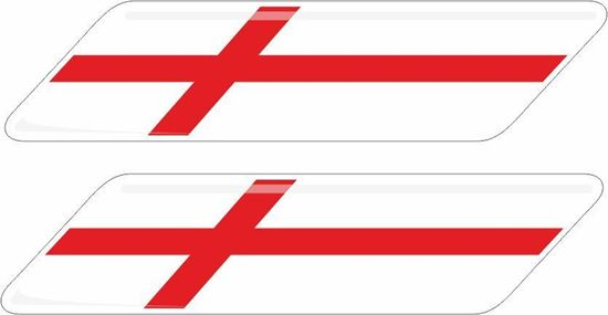 Picture of England 70mm Exterior Gel Badges