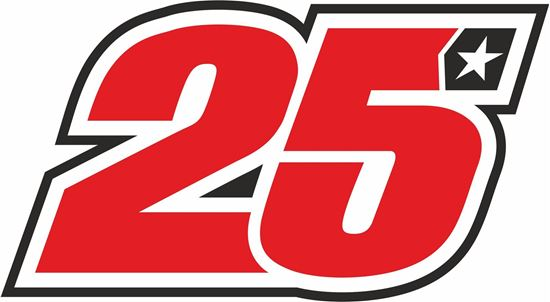 "Picture of ""25""Maverick Vinales Track and street race nose cone number Decal / Sticker"