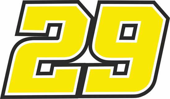 "Picture of ""29"" Andrea Iannone Track and street race nose cone number Decal / Sticker"