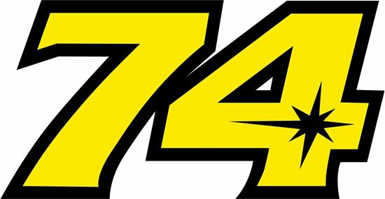 "Picture of ""74""Daijiro KatoTrack and street race nose cone number Decal / Sticker"