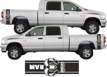 Picture of Dodge Ram 2500 side bed Stripes / Stickers