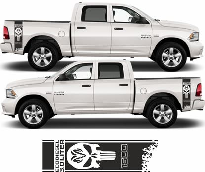 Picture of Dodge Ram Eco Diesel Punisher Side bed Stripes  / Stickers