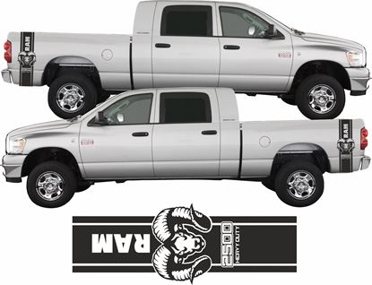 Picture of Dodge Ram 2500 Heavy Duty  side bed Stripes  / Stickers