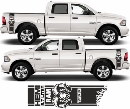 Picture of Dodge Ram 1500 Hemi side bed Stripes / Stickers