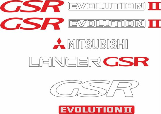 Picture of Mitsubishi Lancer  GSR evolution 2 full replacement Decals / Stickers
