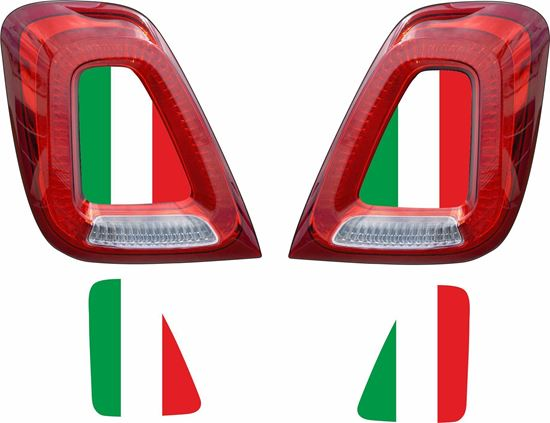 Picture of Fiat  500 / 595 / 695 Italia Rear centre light Vinyl  overlay  / Decals