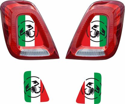 Picture of Fiat  500 / 595 / 695 Italia Abarth Rear centre light Vinyl  overlay  / Decals