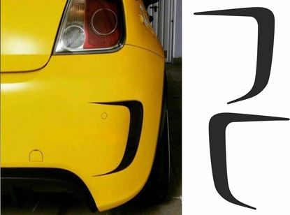 Picture of Fiat  500 Abarth rear Bumper Vinyl inserts / Stickers