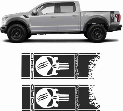 Picture of Ford Raptor F1-50 Punisher side bed Decals / Stickers