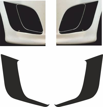 Picture of Fiat  500 / 595 Abarth front Bumper Vent surround  Vinyl Decals / Stickers