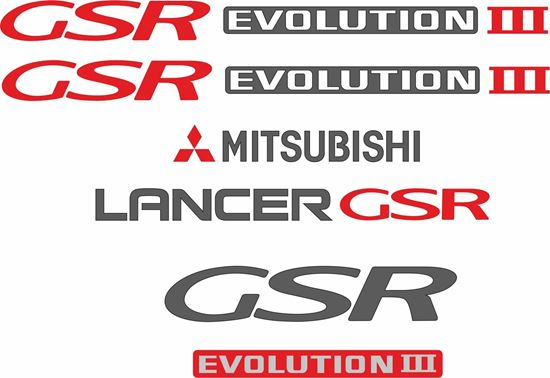 Picture of Mitsubishi Lancer  GSR evolution 3 full replacement Decals / Stickers