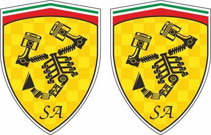 Picture of Fiat Abarth Scuderia Italia Mechanical Decals / Stickers