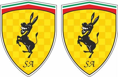 Picture of Fiat Scuderia Abarth Donkey Decals / Stickers