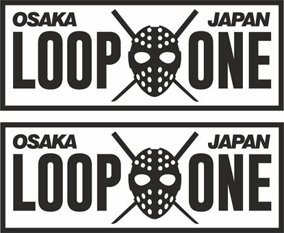 """Picture of """"OSKA JAPAN LOOP ONE""""  JDM Decals / Stickers"""