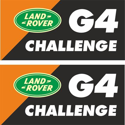 "Picture of Land Rover  ""G4 Challenge"" Decals / Stickers"