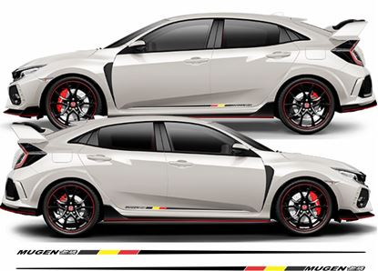 Picture of Honda Civic FK2  / FK8 Mugen side Stripes / Stickers