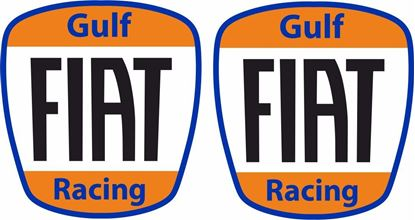"Picture of Fiat  500  / 595 ""Gulf Racing"" Stickers / Decals"