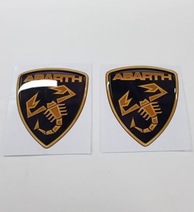 Picture of Fiat Abarth Lamborghini Style wing Badges 60mm