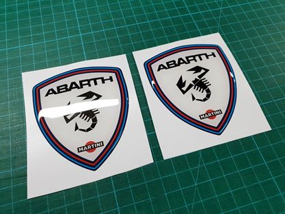 Picture of Fiat Abarth Martini wing Badges 80mm
