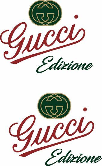 """Picture of Fiat  """"Gucci Edizione"""" Panel Decals / Stickers"""
