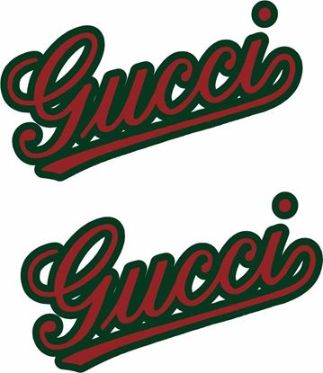 "Picture of Fiat  ""Gucci""Panel Decals / Stickers"
