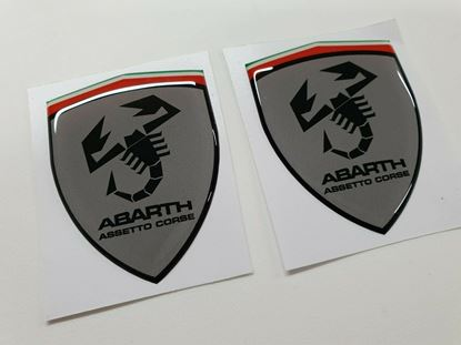 Picture of Fiat Abarth Assetto Corse wing Badges 60mm
