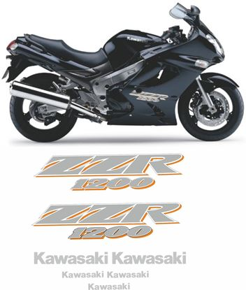 Picture of Kawasaki ZZR 1200 ZZ-R  2004 Replacement Decals Stickers Graphics