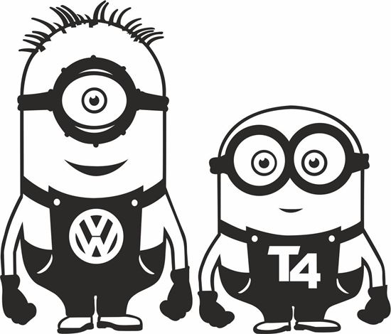 Picture of Minion VW  T4 general panel  Decals /Stickers
