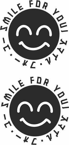 """Picture of """"Smile for you"""" JDM Hand Decals / Stickers"""