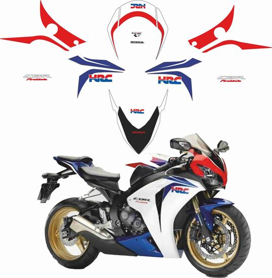 Picture of Honda CBR 1000RR Fireblade 2009 full HRC  replacement Decals / Stickers